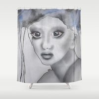 depression Shower Curtains featuring Depression II by katimarco