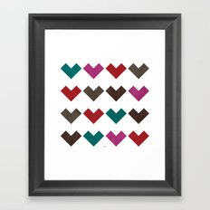 leather geometric love on white Framed Art Print