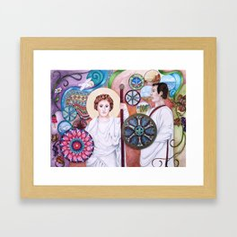 The Angel and the Centurian Framed Art Print