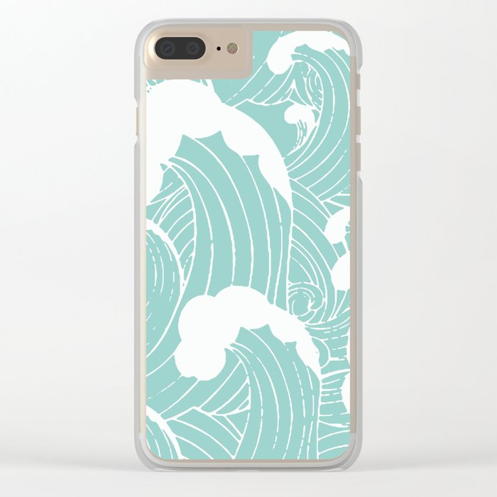 Refreshing waves Clear iPhone Case