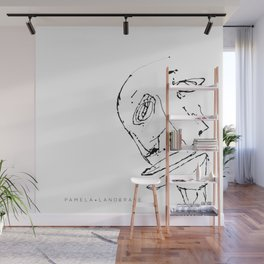 White twisted face Wall Mural