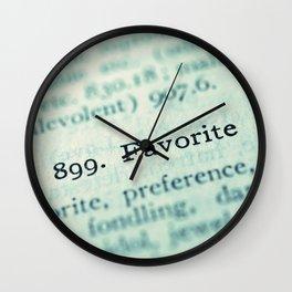 Favorite Wall Clock