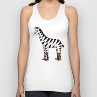 socks Tank Tops featuring Zebra Socks by Kendra Blinde