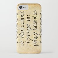 gondor iPhone & iPod Cases featuring No admittance except on party business by Augustinet