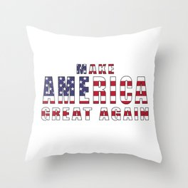 Make America Great Again - 2016 Campaign Slogan Throw Pillow