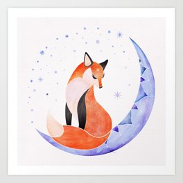 The Fox in the Moon Art Print