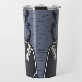 Elephant head background Travel Mug