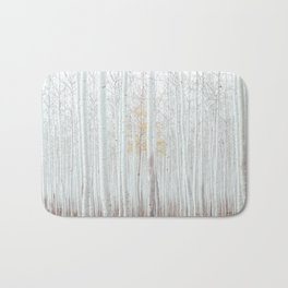 White tree forest Bath Mat