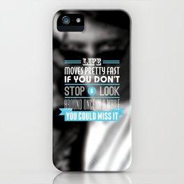 """FERRIS BUELLER"" Typography Poster iPhone Case"
