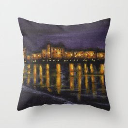 Night in Prague Throw Pillow