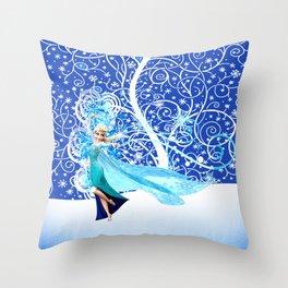 The Magic Of Frozen Throw Pillow