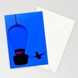 Blue Hummer In Flight Stationery Cards