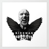 birdman Art Prints featuring Birdman by naidl