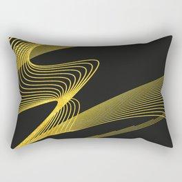 Gold Elegant -Piano Black- Rectangular Pillow