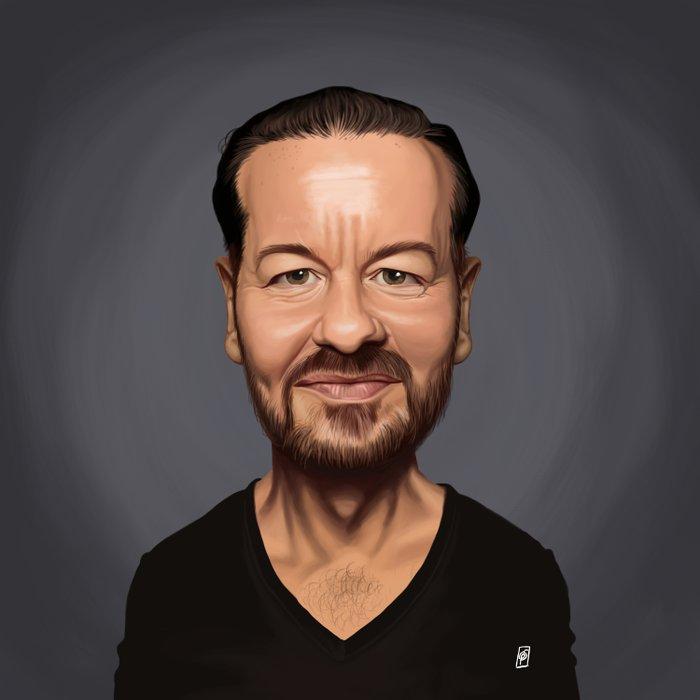 Celebrity Sunday ~ Ricky Gervais Duvet Cover