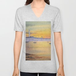 Impressions Of Provincetown Cape Cod USA Unisex V-Neck