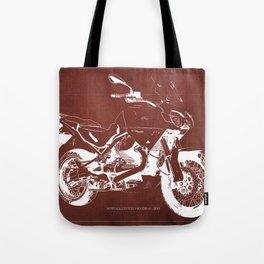 2010 Moto Guzzi Stelvio 1200 4V red blueprint Tote Bag