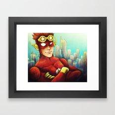 Wally West Framed Art Print