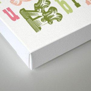 Alphabet Print Canvas Print