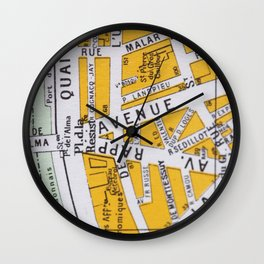 Paris Streets 3 Wall Clock