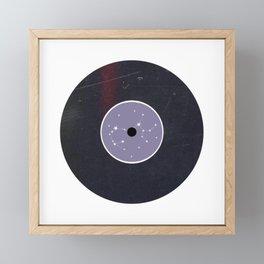 Vinyl Record Star Sign Art | Sagittarius Framed Mini Art Print