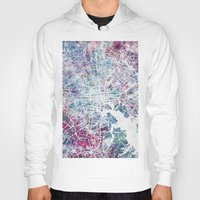 baltimore Hoodies featuring Baltimore by MapMapMaps.Watercolors