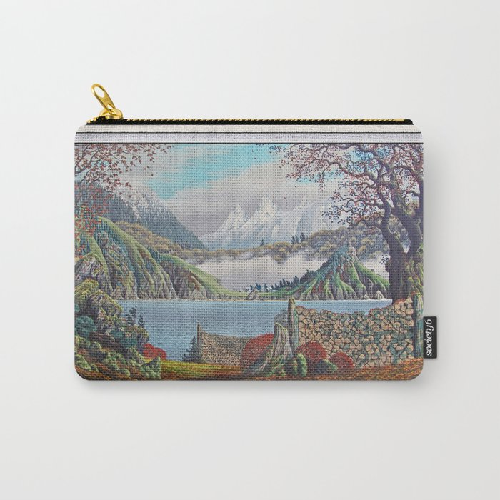 HOME ON THE NORTHWEST COAST OIL PAINTING Carry-All Pouch