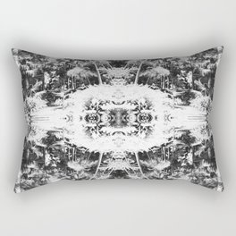 Black n White Boho Pattern Rectangular Pillow