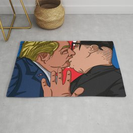 Kiss Trump and Kim Jong Un Rug
