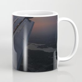 Airliner Wing at Sunset Coffee Mug