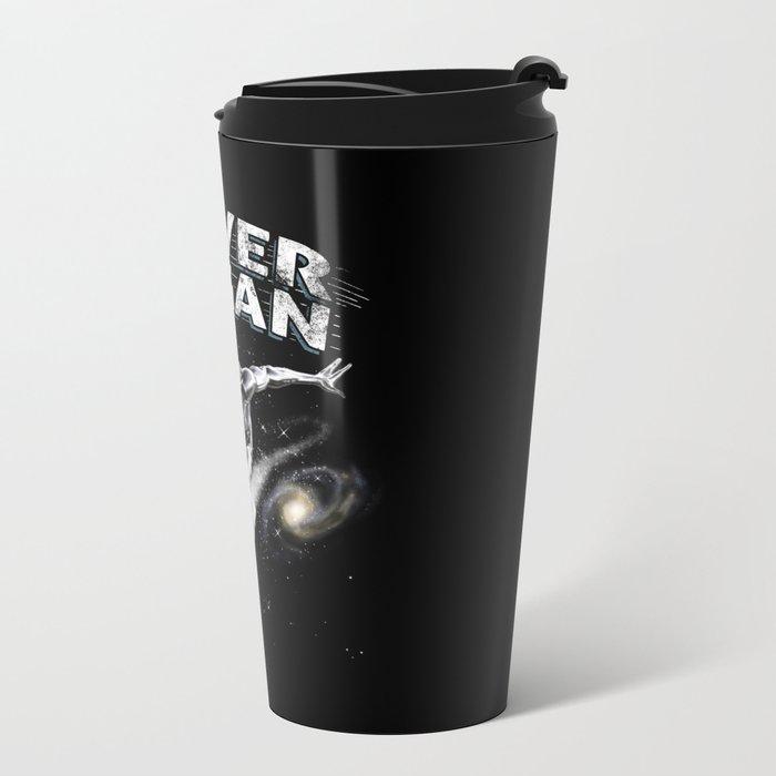 Silver Sagan Metal Travel Mug