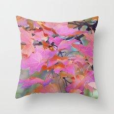 Autumn Rainbow Colors Throw Pillow