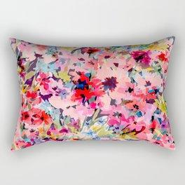Little Peachy Poppies Rectangular Pillow
