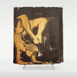 Sensation of Gold Shower Curtain