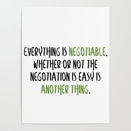 Carrie Fisher Negotiable Quote Poster