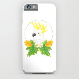 Cocky Bird - Cockatoo Illustration iPhone Case