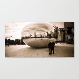 Chicago Bean with People reflection Canvas Print