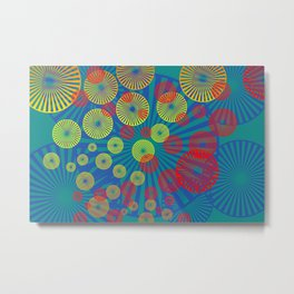 Psychodelic Spirals colorful Metal Print