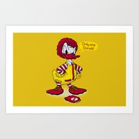 donald duck Art Prints featuring Donald by 2mzdesign