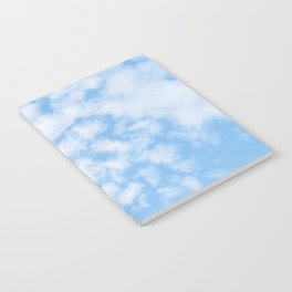 Summer Sky with fluffy clouds Notebook