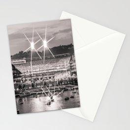 Pittsburgh Baseball Park Steel City Black White Sports Print Stationery Cards