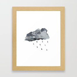 Raincloud Collage Framed Art Print