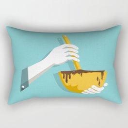 Lick The Bowl Rectangular Pillow