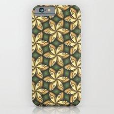 Flower Pattern Yellow/Deep Green Slim Case iPhone 6s