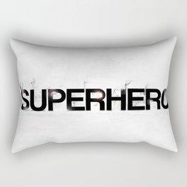 Superhero - gray wallpapers Rectangular Pillow