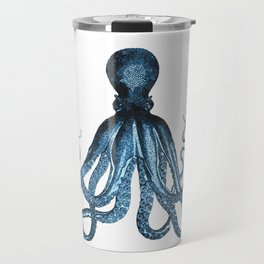 Octopus coastal ocean blue watercolor Travel Mug