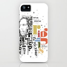 Marley get up stand up don't give up the fight iPhone Case