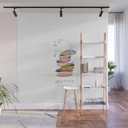 cat love food Wall Mural