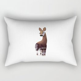 Lovely okapi. Vector graphic character Rectangular Pillow