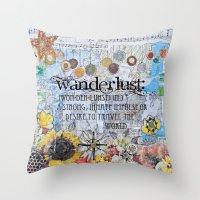 wanderlust Throw Pillows featuring Wanderlust by Jenndalyn